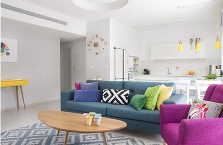 תכנון ועיצוב דירת גן 4 חדרים
