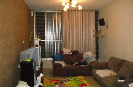 הסלון לפני